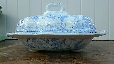 Antique Burgess & Leigh Burleigh Asiatic Pheasant Vegetable Tureen Serving Dish