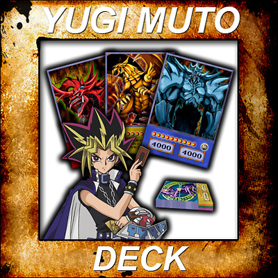 Yugioh Orica Aniime Cosplay YUGI MUTO STARTER Deck 56 cards - Custom Backing