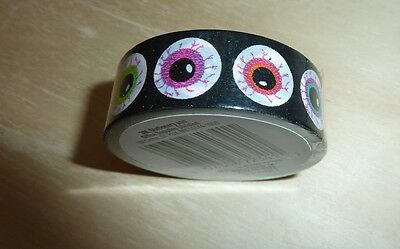Scotch Expressions washi tape roll Halloween eye balls eyeballs eyes 7.65 yd, 3M