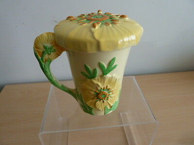 Carlton Ware Lidded Chocolate Cup - Yellow Buttercup Pattern