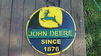 Vintage John Deere Sign,Farm,Metal,Tractor,Equipment,Advertising,Bar,Barn,Large