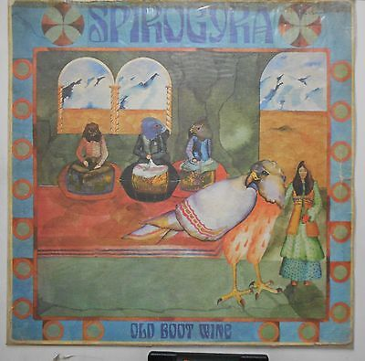 SPIROGYRA OLD BOOT WINE 1972  UK 1st PRESS PEGASUS LABEL PSYCHO FOLK PROG LP B20