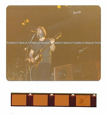 JERRY GARCIA - GRATEFUL DEAD concert photo + negative circa 1976 NM condition