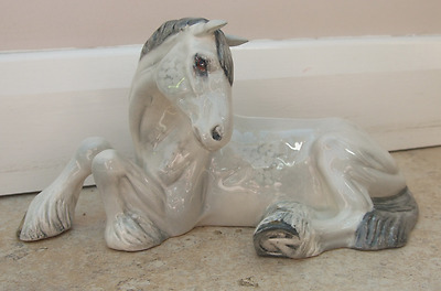 Beswick Horse, Lying Shire mare. Good Condition.