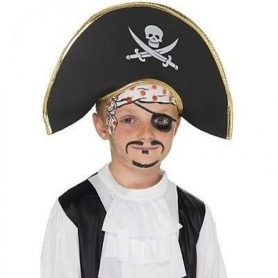 Child's Pirate Hat Fancy Dress Up Costume Accessory Kids Boys Girls