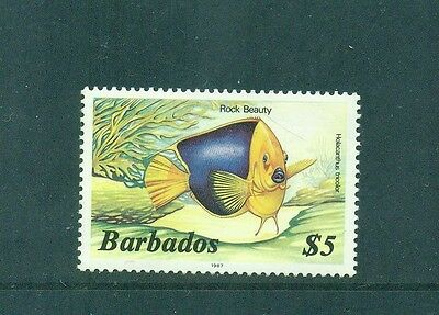 Barbados 1987 imprint Marine Life $5 Rock Beauty Fish SG 777B MNH