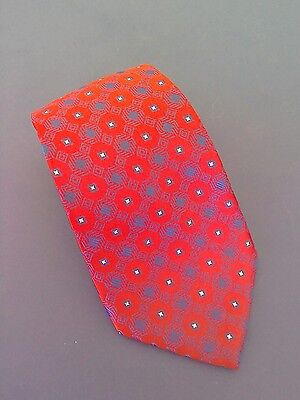 New Adults Silk Show Tie Red, Royal Blue And Silver