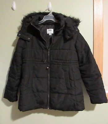 Black Old Navy Maternity Winter Coat - Size M & Coupons!