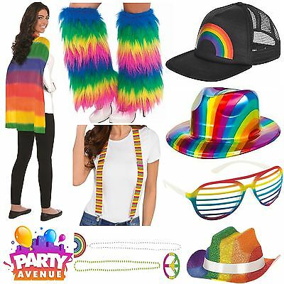 Gay Pride Fancy Dress Accessories Rainbow Hats Jewellery LGBT Parade lot