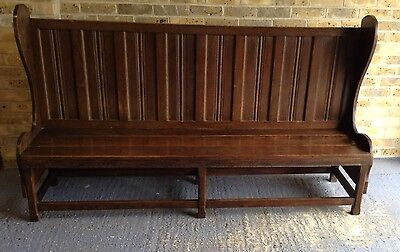 "Georgian Solid Oak Settle/pew. 6ft 2"" Long. Delivery Available."