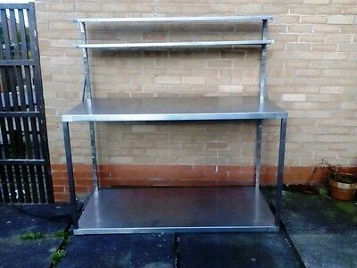 Stainless Steel Commercial Catering Table Work Bench with  removable top shelf