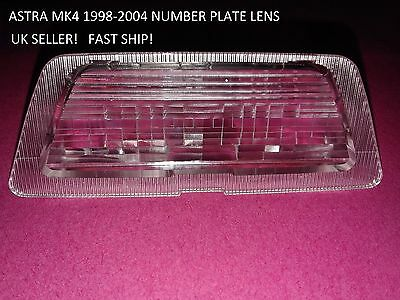 VAUXHALL ASTRA Mk4 1998-2003 REAR NUMBER PLATE LIGHT LENS HATCHBACK & SALOON