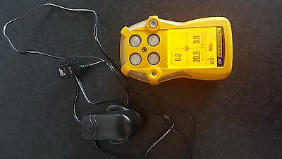 BW Gas Alert Quattro 4 gas detector H2S/O2/CO/LEL (CH4) rechargeable