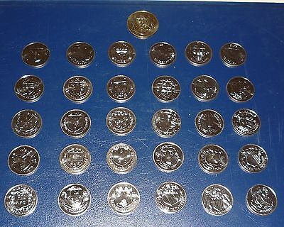 31 Esso Fa Cup Centenary 1872-1972 Coins Full Set Including Large Leeds Coin