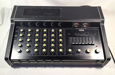 YAMAHA EM-150 6 CHANNEL MIXER, POWER AMP, SPRING REVERB & EQUALIZER with Box