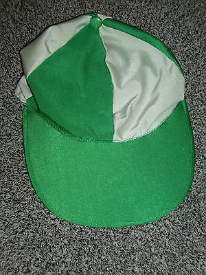 Green & White Riding Hat Silk