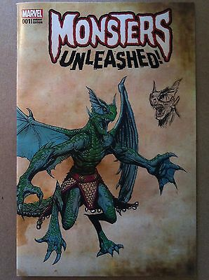 MONSTERS UNLEASHED (2016) #1 DESIGN VARIANT COVER STEVE McNIVEN NM 1ST PRINTING