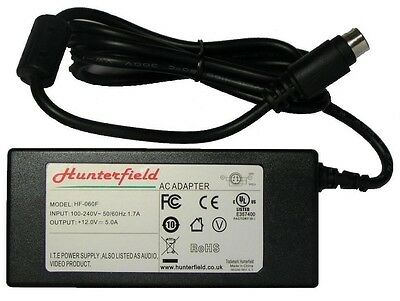 DMTech TV 12V 5A 4 pin type power supply, mains adapter. Brand new