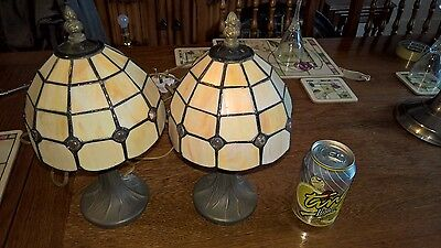 Vintage Tiffany Style Table Lamps - PAT Tested