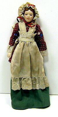 "Vintage 8"" Avon  1987 Porcelain Collectible Doll Fashion of Early American Times"