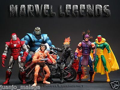 MARVEL LEGENDS serie 7 SELECCIONA IRON MAN, GHOST RIDER, VISION, APOCALIPSIS...