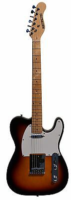 Full Size 39 Inch SUNBURST Electric Guitar [Telecaster TL Style] with Free Car..