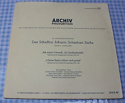 The Works of JS Bach, Archiv 13072 AP, 10in LP, BMV 55 & BMV 189