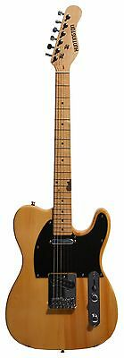 Full Size 39 Inch Vintage Butterscotch Electric Guitar Telecaster TL Style w/ Ca