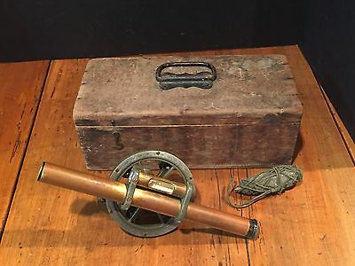 Antique Keuffel & Esser Surveyor's Transit with Wooden Case