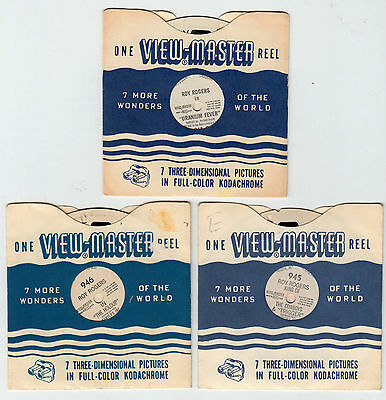 Vintage 1950 VIEW-MASTER • ROY ROGERS • GENE AUTRY, HOP-ALONG CASSIDY, CISCO KID