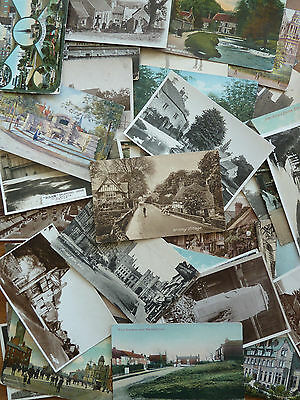 Job Lot of 40 x Mostly UK Topographical Postcards- Early 1900's