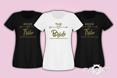 Hen Do Party Bride Tribe 2017 2018 Custom Personalised T-shirt Ladies Female