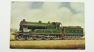 1900s F Moore Postcard London & South Western Railway 4-6-0 Express Engine No443