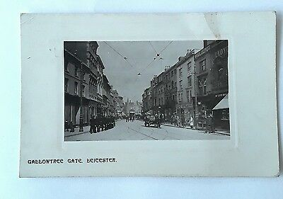 Old Postcard of Leicester: Gallowtree Gate
