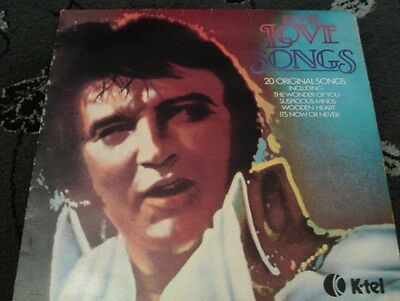 "Elvis Love Songs 12"" Vinyl Record LP"