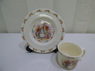 Royal Doulton Bunnykins New Arrival Cup & Plate 2 Piece Baby Set