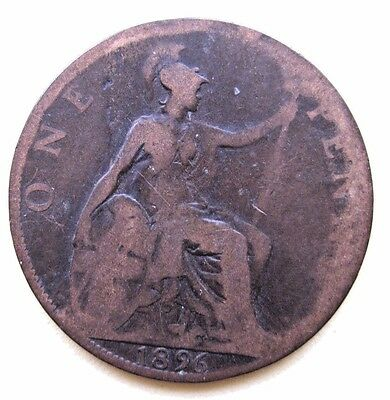 Gb    One Penny Coin    Queen Victoria   1896      Circulated