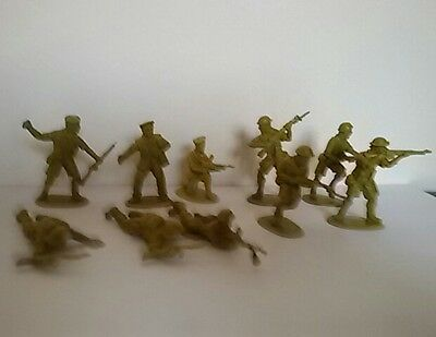 Soldatini Toy Soldiers British 8Th Army Desert Rats 10 Pz Senza Scatola 1/32