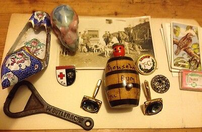 Joblot Old Collectable Curios Antique? Vintage? Pop Up Man Cuff Links And Scrap