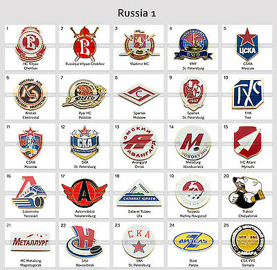 Ice Hockey Pin Badge Russia KHL VLH MHL All Clubs PART 1