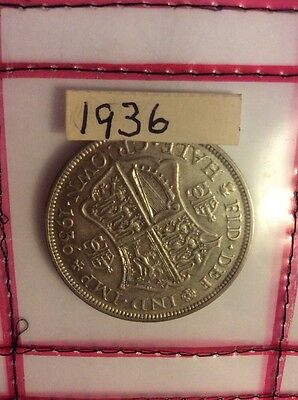 1936 George V Half Crown In Good Extremely Fine Condition