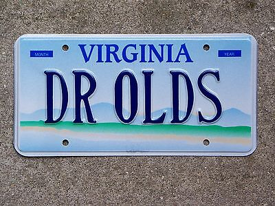 Virginia Vanity License Plate DR OLDS Oldsmobile 442 W30 W31 W32 SX Scenic Base
