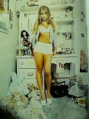 Britney Spears at Home Kentwood 1999 Single Page from Music Book 28x22cm
