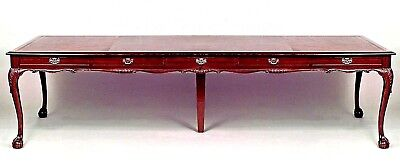 English Chippendale Style Mahogany Conference Table