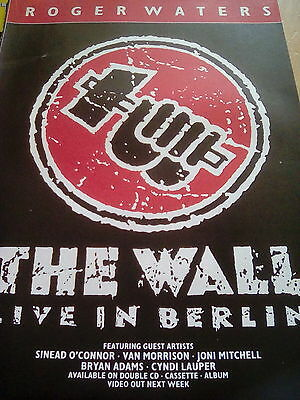 Roger Waters Pink Floyd The Wall in Berlin 1989 Tour A4 Advert to Frame?