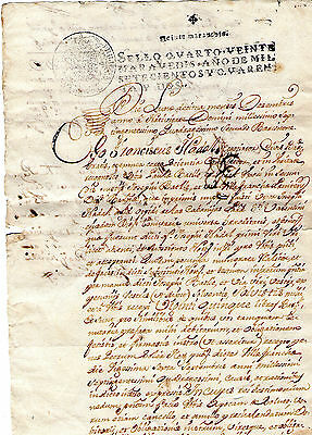 1742 Official document of the XVIII century Spanish Empire,( imperial tax.)