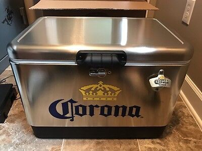 Corona Stainless Steel Cooler 54qt NEW IN BOX!! Made In the USA By Coleman