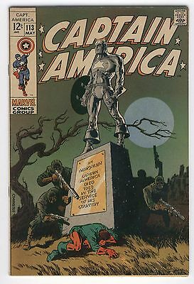 Captain America #113 The Death Of Captain America Steranko Art Silver Age Key FN