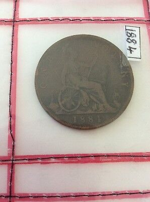 1884 One Penny Young Head Queen Victoria -