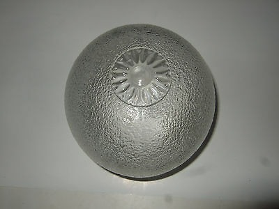 Vintage Frosted & Embossed Round Glass Ceiling Light Lamp Shade Globe lighting